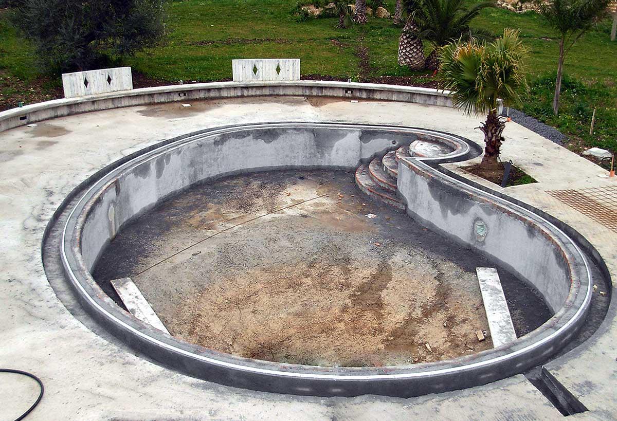 Siculapool piscina - fase lavorazione